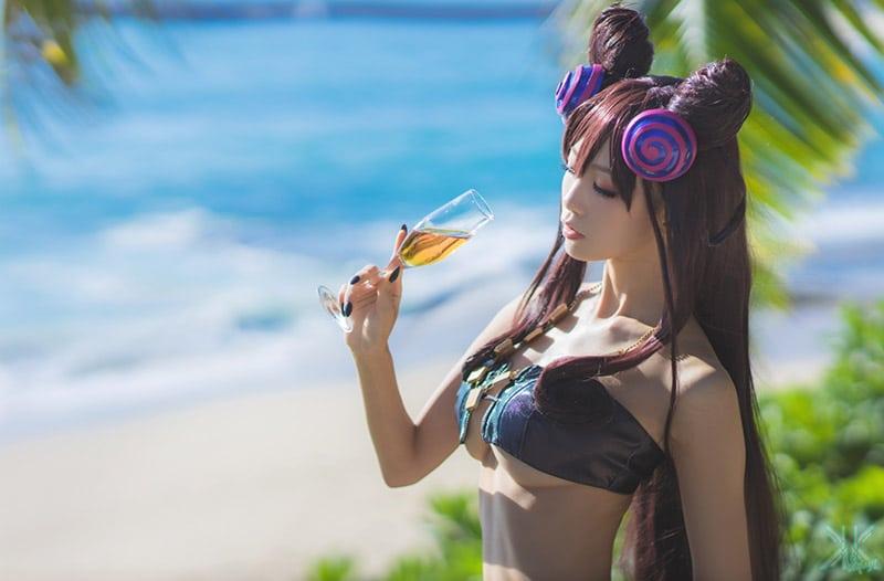 "[16+] Bộ ảnh cosplay sexy ""Water Aqua"" (Coser LC95)"
