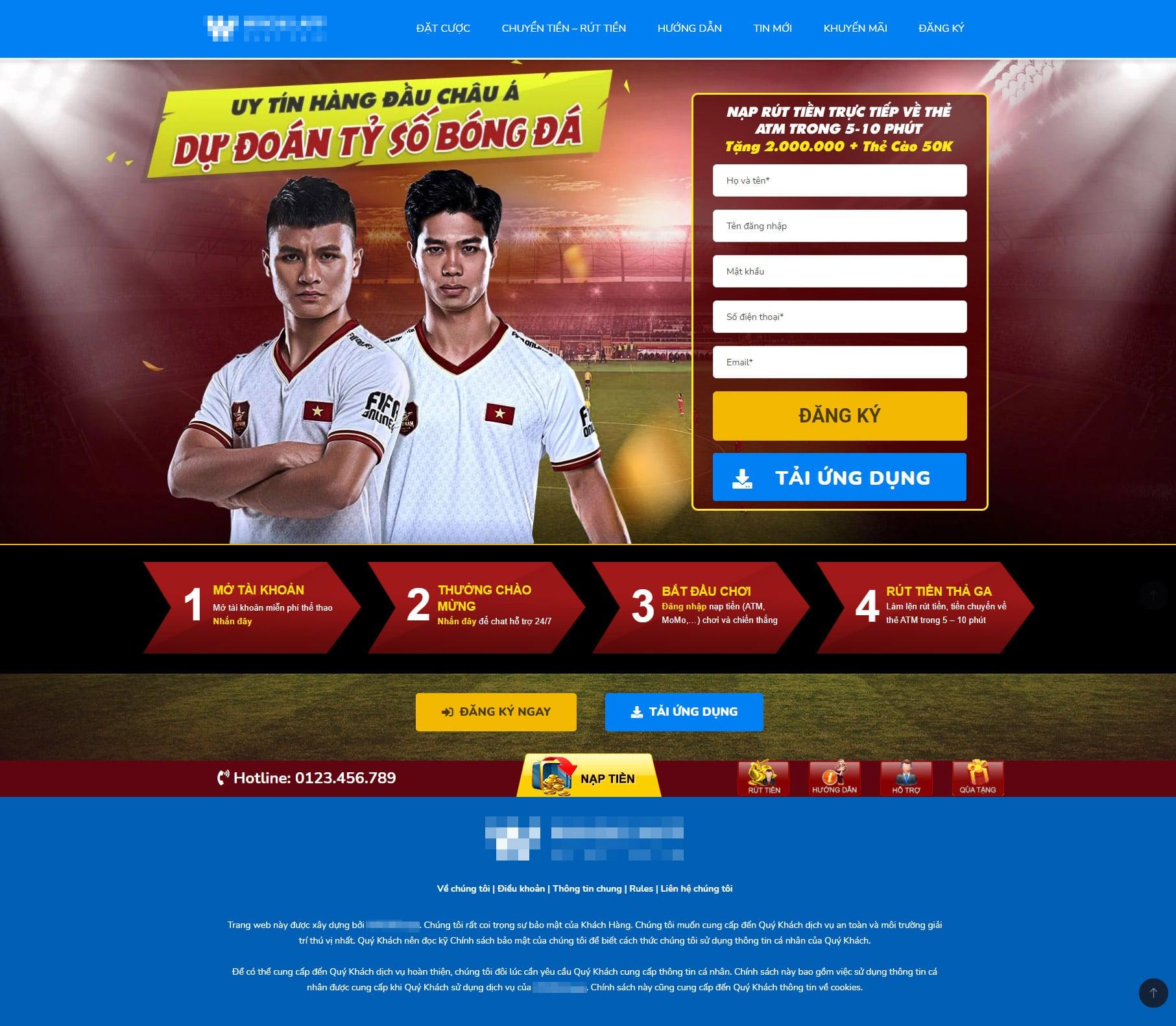 mẫu website 1