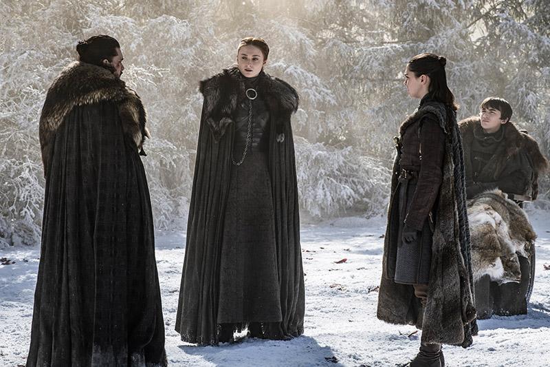 Sansa, Arya, Bran, Jon Snow