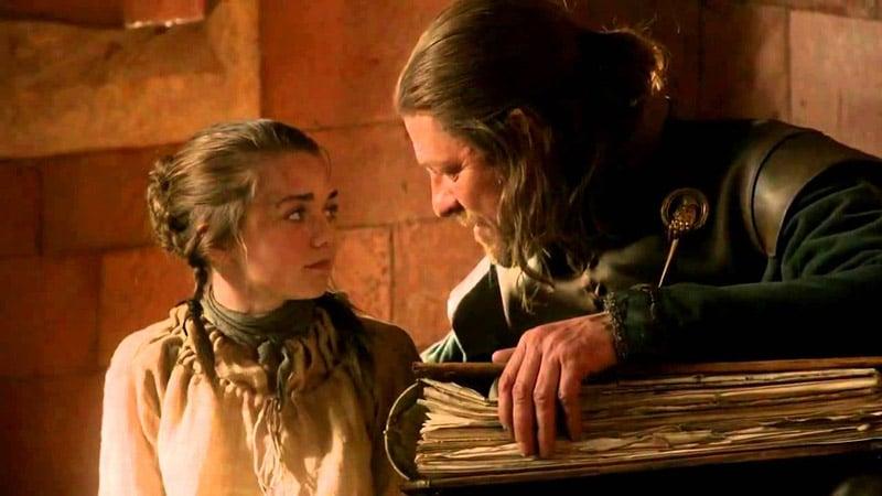 ned and arya stark