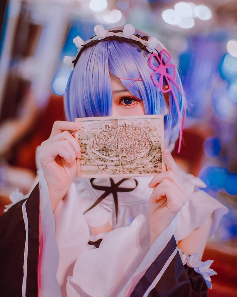 Bộ ảnh cosplay Rem (Re:Zero Kara Hajimeru Isekai Seikatsu)