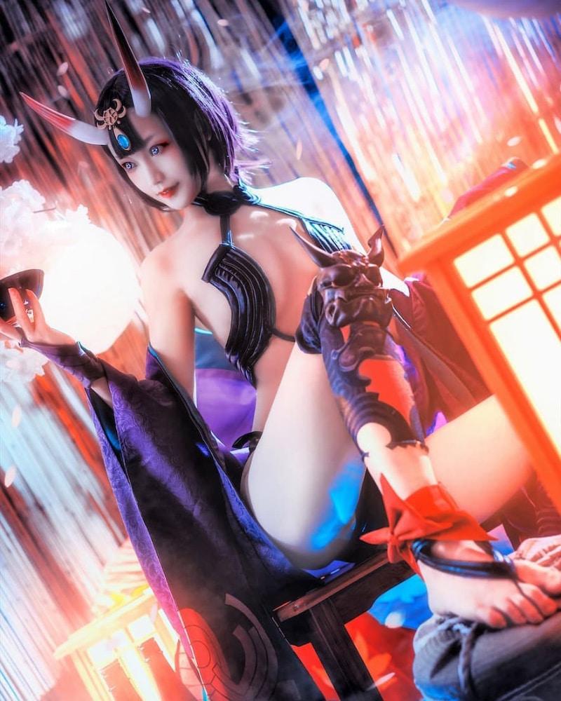 Bộ ảnh cosplay Shuten Douji trong game Fate / Grand Order
