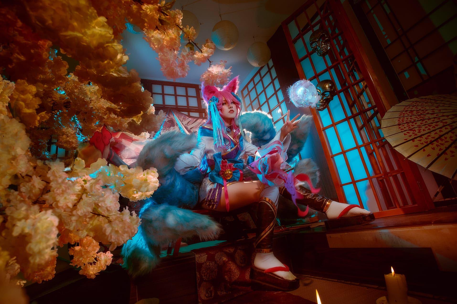 Bộ ảnh cosplay Ahri Spirit Blossom